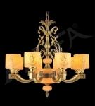 Đèn Chùm Đồng Đá Tự Nhiên UCD1083-8 Ø800
