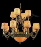 Đèn Chùm Đồng Đá Cao Cấp UCD1246-12
