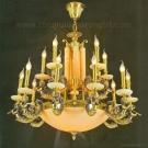 Đèn Chùm Nến Đồng Đá Cao Cấp NA-CD1222 Φ900