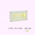 Đèn Led 3W Âm Bậc Cầu Thang ECN60