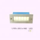 Đèn Led 2W Âm Bậc Cầu Thang ECN57