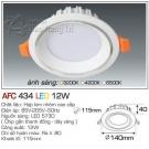 Đèn Led Âm Trần AFC 434 12W Φ115