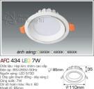 Đèn Led Âm Trần AFC 434 7W Φ85