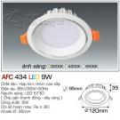 Đèn Led Âm Trần AFC 434 9W Φ95