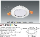 Đèn Led Âm Trần AFC 433 7W Φ85