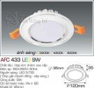 Đèn Led Âm Trần AFC 433 9W Φ95