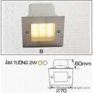 Đèn Âm Tường AFC LED 2W Mẫu B 70x70