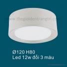 Đèn LED 12W Gắn Nổi Đổi Màu SN6564 Ø120