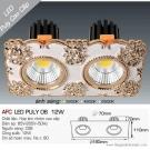Đèn Mắt Ếch Đôi AFC LED Puly 06 20W