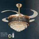 Đèn Quạt Pha Lê Cánh Xếp UDQ6100 Ø1100