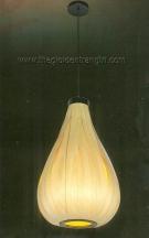 Đèn Thả Nghệ Thuật Lá Gỗ KD415 Ø350