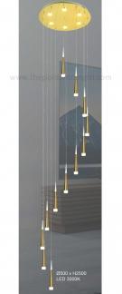 Đèn Thả LED Thông Tầng KH-THD01-12 Ø500xH2500