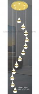Đèn Thả LED Thông Tầng KH-THD04-12 Ø600xH3000