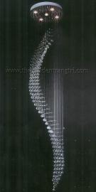 Đèn Thả Pha Lê Thông Tầng QN6040 Ø500 x H2400