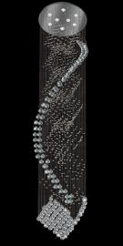 Đèn Thả Pha Lê Thông Tầng TP8620-13 Ø600 x H2600