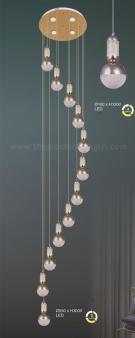 Đèn Thả Thông Tầng AU-TH9835-12 Ø550xH3000