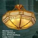 Đèn Trần Đồng Cao Cấp US039 Ø540