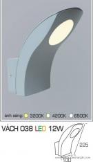 Đèn LED Gắn Tường Ngoài Trời 12W AFC Vách 038