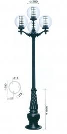 Đèn Trang Trí Sân Vườn TRỤ 088 H3300