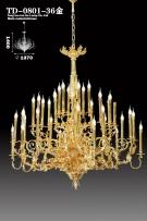 Đèn Chùm Đồng Mạ Vàng 24K TD0801-36