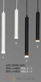 Đèn Trang Trí Thả LED KH-THD10-1 Ø30