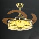 Đèn Quạt Cánh Xếp Bằng Đồng UDQD5632 Ø1100
