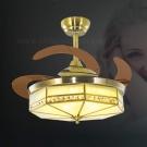 Đèn Quạt Cánh Xếp Bằng Đồng UDQD5652 Ø1100