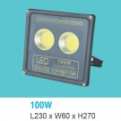 Đèn Pha LED 100W UFA12