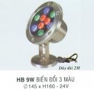 Đèn Pha Led Dưới Nước HB 9W 3 màu