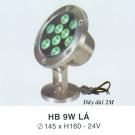 Đèn Pha Led Dưới Nước HB 9W Xanh