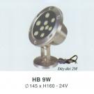 Đèn Pha Led Dưới Nước HB 9W Vàng