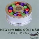 Đèn Pha Led Dưới Nước HBG 12W 3 Màu