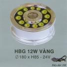 Đèn Pha Led Dưới Nước HBG 12W Vàng