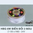 Đèn Pha Led Dưới Nước HBG 6W 3 Màu