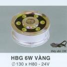 Đèn Pha Led Dưới Nước HBG 6W Vàng