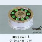 Đèn Pha Led Dưới Nước HBG 9W Xanh