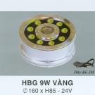 Đèn Pha Led Dưới Nước HBG 9W Vàng