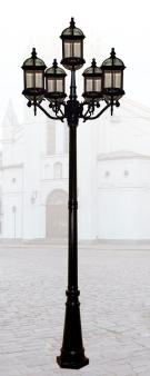 Đèn Trụ Sân Vườn HSTDM1405-4+1 Ø800xH2800
