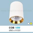 Đèn Lon LED 10W Gắn Nổi ULN19 Ø90