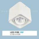 Đèn Lon LED 10W Gắn Nổi ULN27 105x105