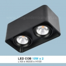 Đèn Lon LED 20W Gắn Nổi ULN30 105x200