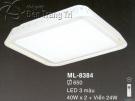 Đèn Ốp Trần Led Hàn Quốc ML8384 Ø650