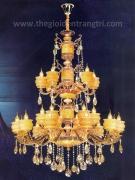 Đèn Chùm Pha Lê Nến Đồng NLNC9922-24 Ø1150