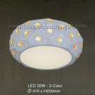 Đèn Ốp Trần LED Hàn Quốc Đổi Màu ERA363 Ø410