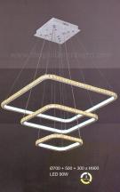 Đèn Thả Trang Trí LED Vuông UTL5098 Ø700