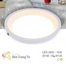 Đèn LED Âm Trần 12W EU-LA466 Ø120
