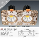 Đèn Downlight 12W AFC LED Puly 06 Ø70