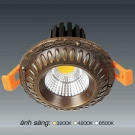 Đèn Downlight 10W AFC LED Đồng 01 Ø70