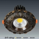 Đèn Downlight 10W AFC LED Đồng 02 Ø70