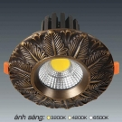 Đèn Downlight 10W AFC LED Đồng 03 Ø70